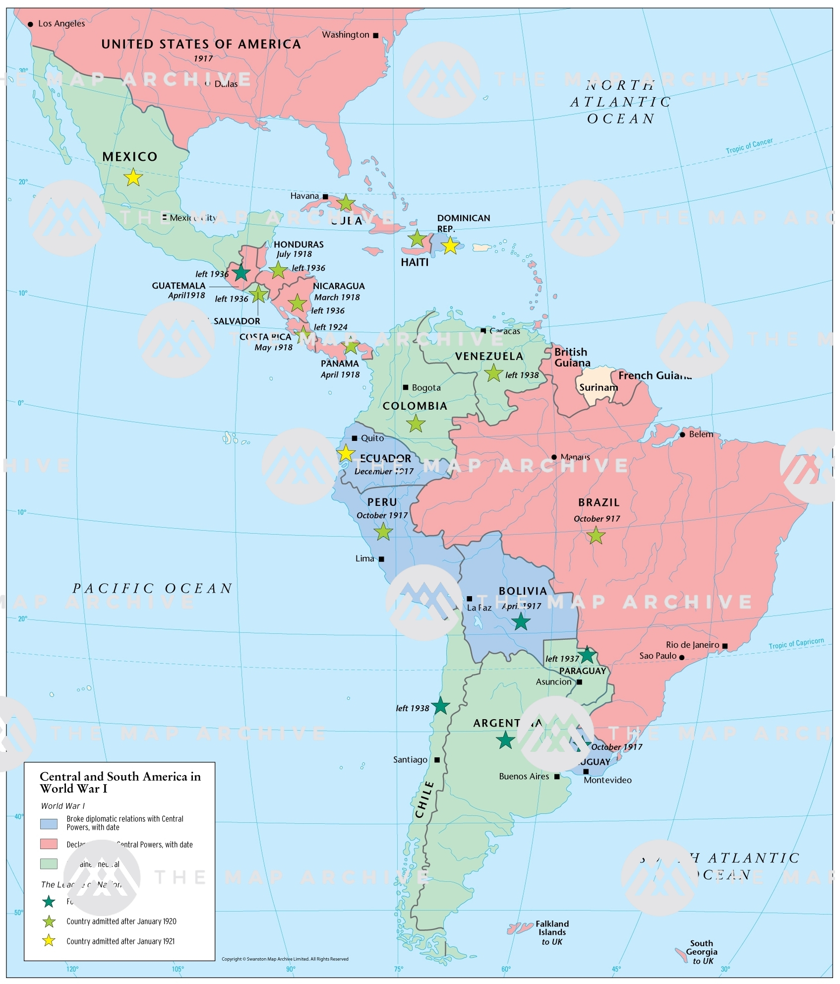 Picture of: Central And South America In World War I