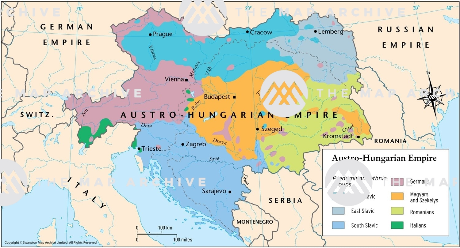 The Austro Hungarian Empire C 1900