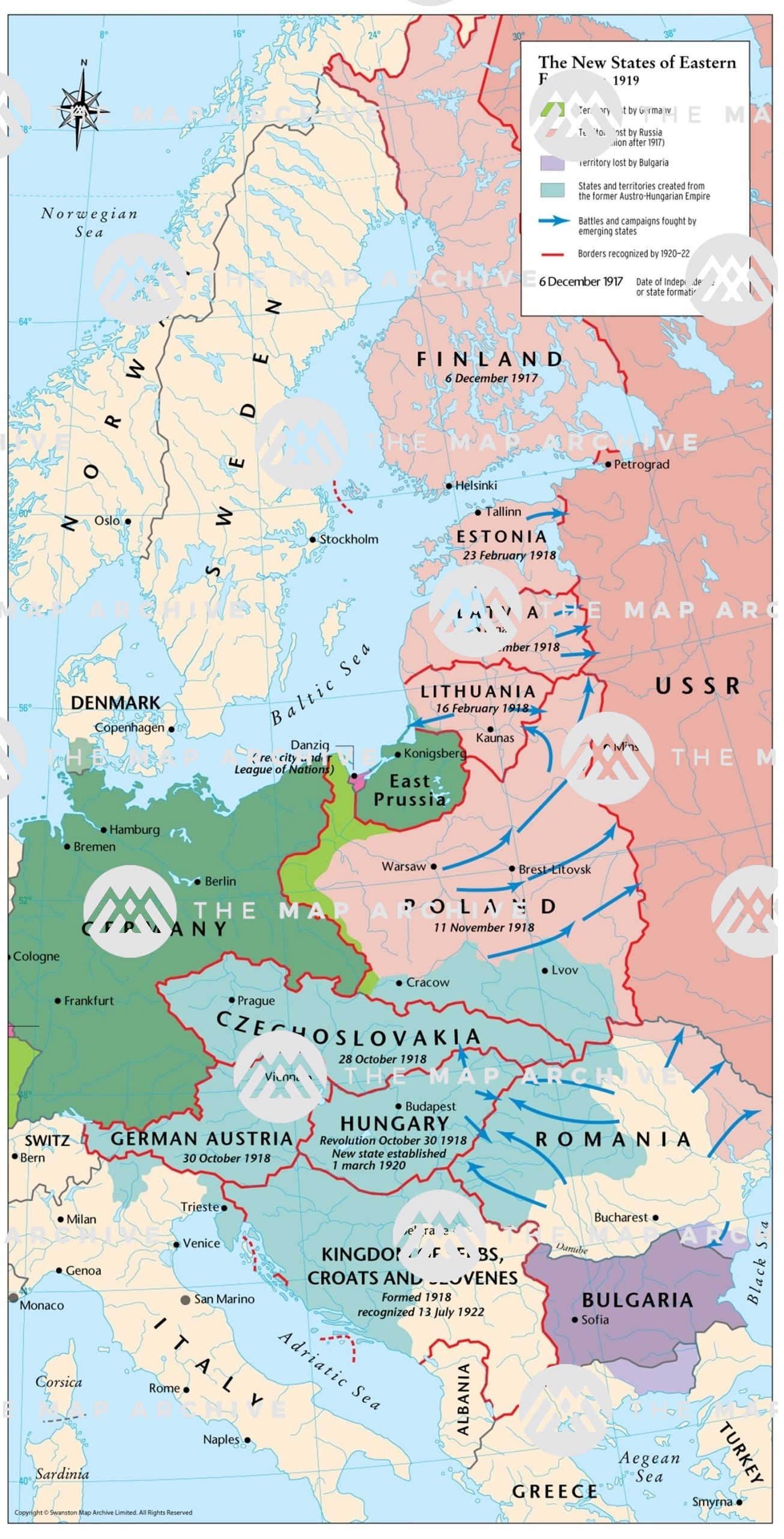 Image of: The New States Of Eastern Europe C 1919