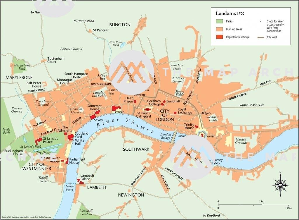 London in 1700