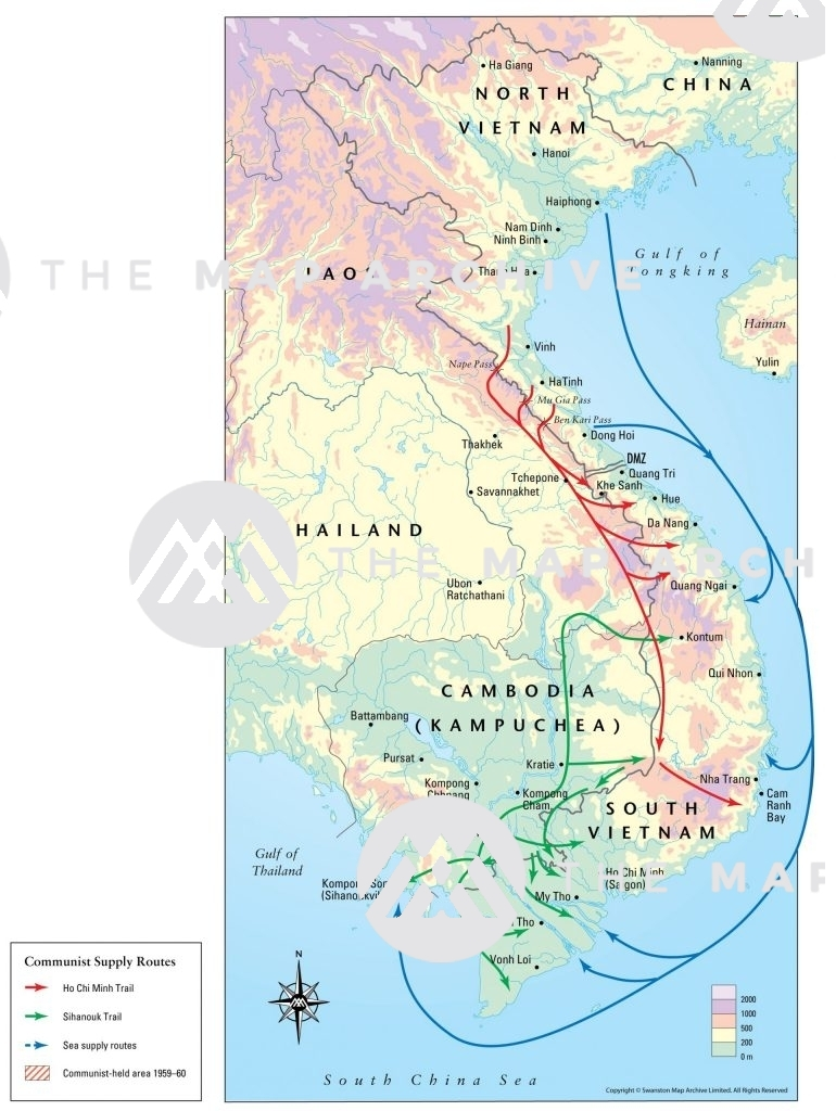 Communist Supply Routes in Indochina 1959-75