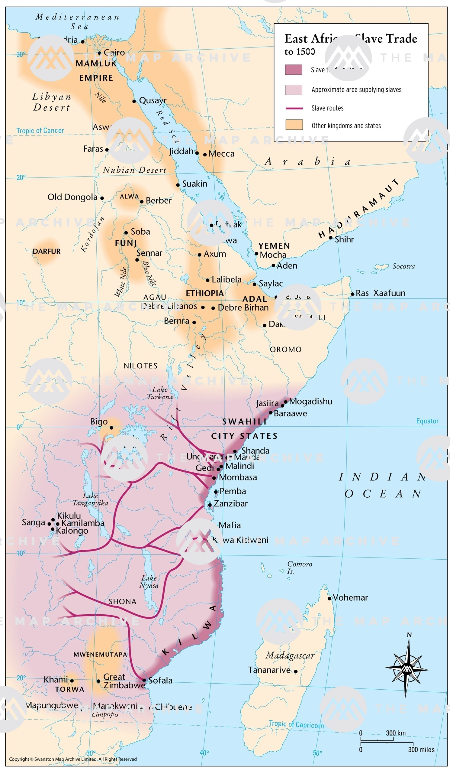 Map Of Africa Slave Trade East African Slave Trade to 1500