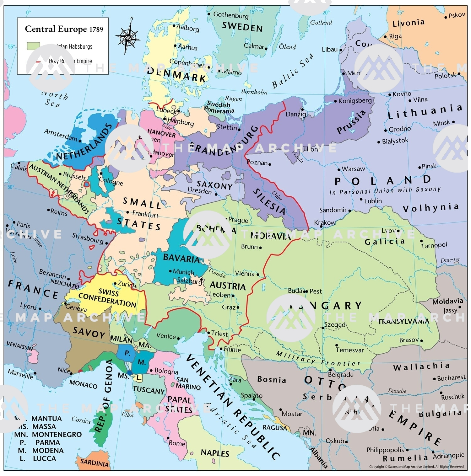 map of europe 1789 Central Europe 1789