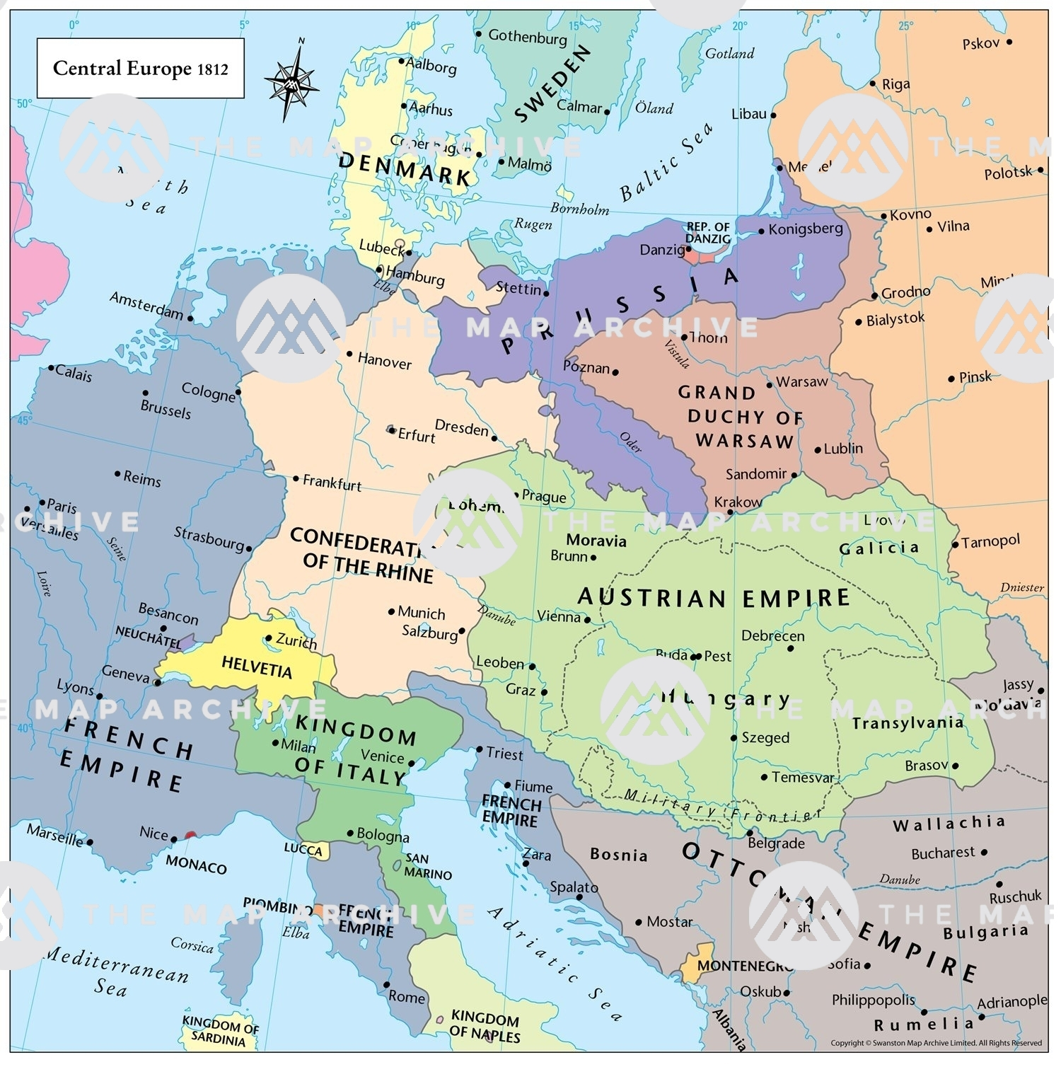 Central Europe 1812