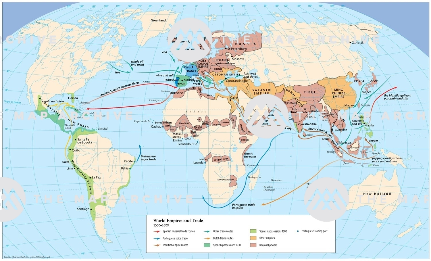 Picture of: World Empires And Trade 1500 1600