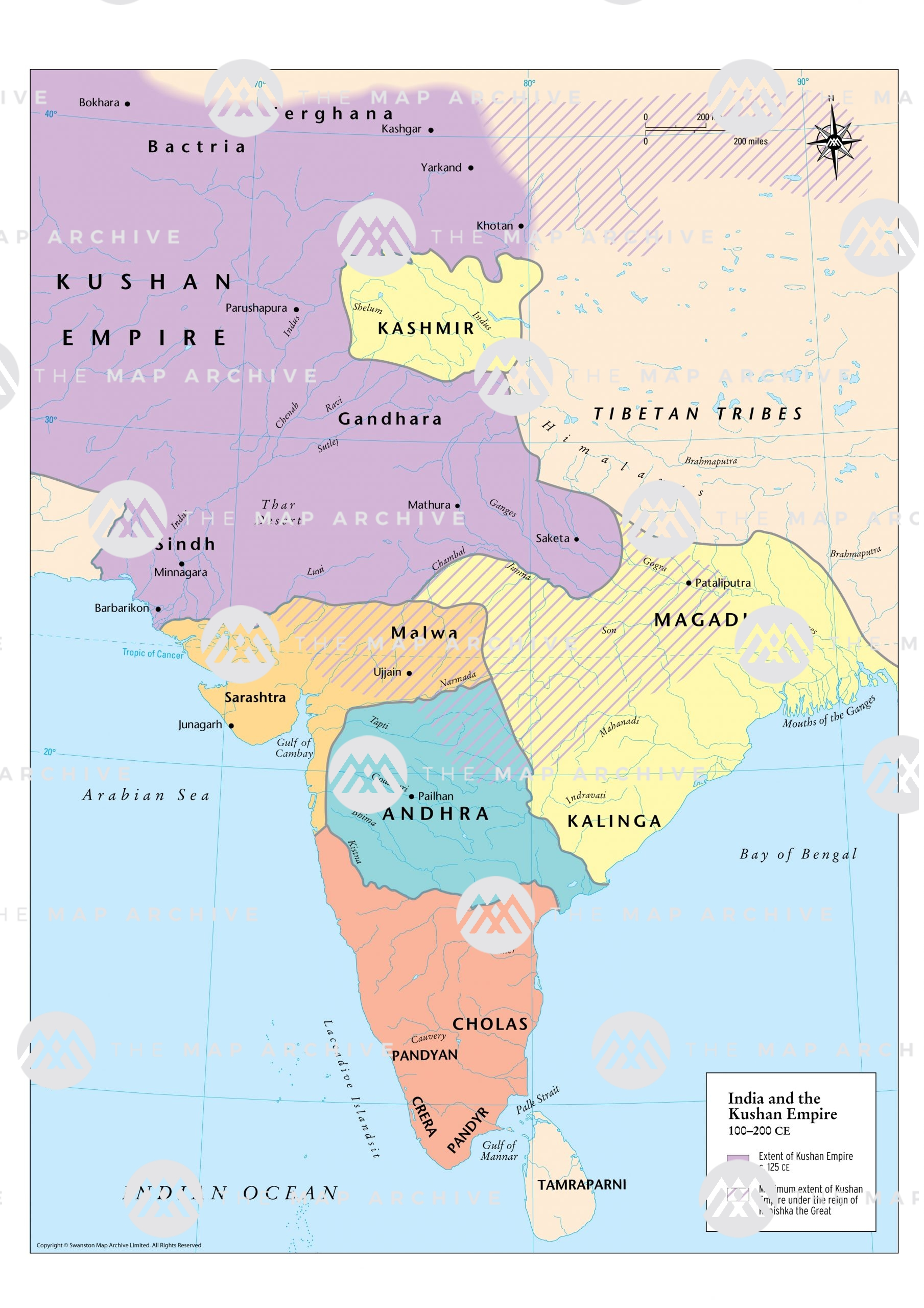 India and the Kushan Empire 100-200 CE