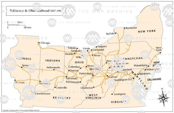 The Baltimore and Ohio Railroad 1827