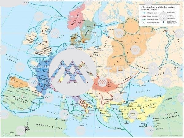 9th-century assailants against Christian Europe: Vikings, Magyars, Saracens