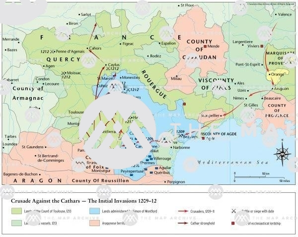 The Crusade Against the Cathars 1209-12