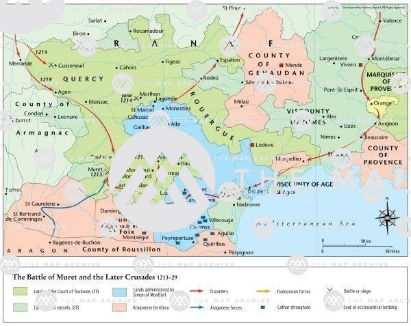 The Battle of Muret and Later Albigensian Crusades 1213–29