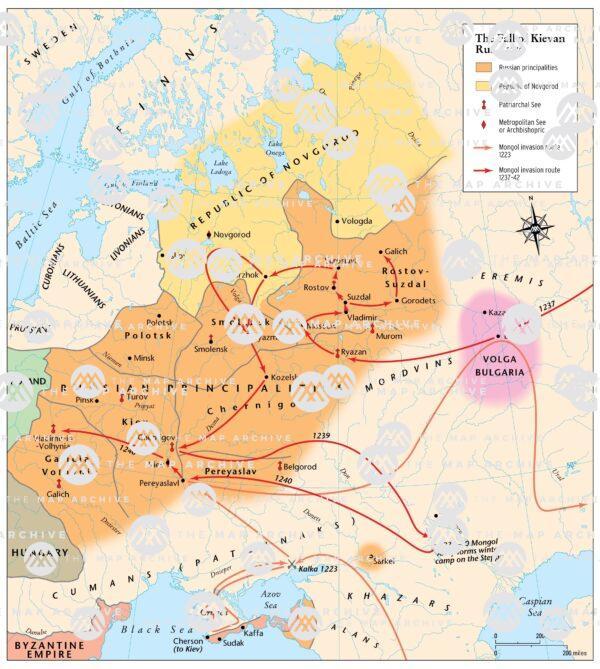 The Fall of Kievan Rus c. 1240