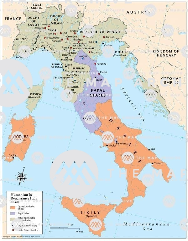 Renaissance Humanism in Europe c. 1500