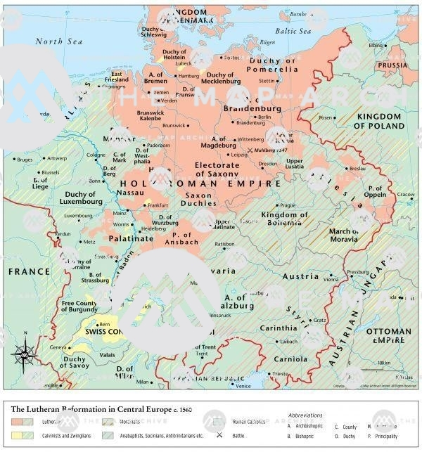 The Lutheran Reformation in Central Europe c. 1560