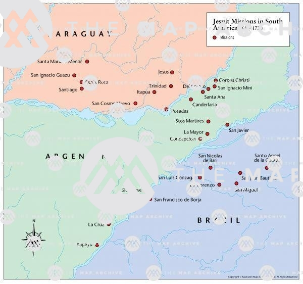 Jesuit Missions in South America 1630-1730