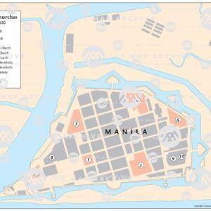 The Christian Churches of Manila c. 1650