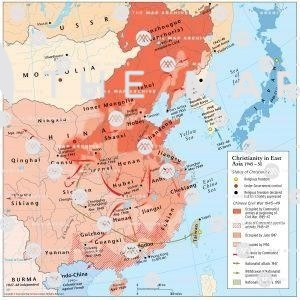 Christianity in East Asia 1950