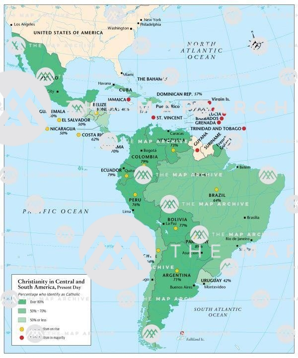 Christianity in Central and South America, 2020